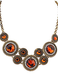 Women's Statement Necklaces Circle Geometric Acrylic Alloy Unique Design Euramerican Fashion Luxury Classic Jewelry ForBirthday