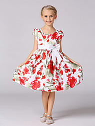 Girl's Casual/Daily Holiday School Floral Dress,Polyester Summer Sleeveless