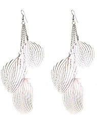 lureme® Drop Earrings Jewelry Unique Design Dangling Style Gothic Cute Style Handmade Adjustable Luxury Feather Leaf Jewelry ForWedding Party