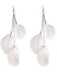 Boucles d'oreille goutte Bijoux Original Pendant Ajustable Le style mignon Fait à la main Gothique Bijoux de Luxe Plume Forme de Feuille
