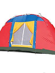 3-4 Pessoas Tenda Único Tenda Dobrada Dois Quartos Barraca de acampamento 1000-1500 mm Fibra de Vidro OxfordÁ Prova de Humidade Prova de