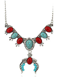 MPL Europe and the United States exaggerated national wind Turquoise Pendant U Necklace