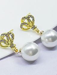 Boucles d'oreille goujon Basique Alliage Blanc Rose Bonbon Bijoux Pour Soirée Occasion spéciale Anniversaire Quotidien 1 paire