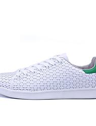 Unisex-Sneakers-Tempo libero Casual-pattini delle coppie-Piatto-PU (Poliuretano)-Bianco Nero Bianco e verde