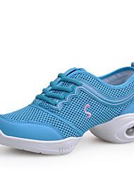 Women's Dance Shoes Synthetic Dance Sneakers Sneakers Low Heel Performance Blue Black/Gold Pink/Black Fuchsia