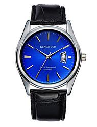 Men's Dress Watch Fashion Watch Quartz Calendar Leather Band Casual Black Brown Blue Brown Black White