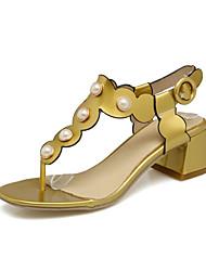 Femme-Mariage Extérieure Habillé Décontracté--Gros Talon Block Heel-Confort Nouveauté Flower Girl Chaussures club de Chaussures-Sandales-