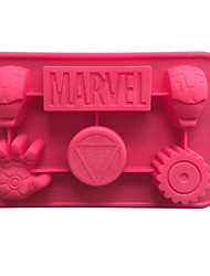 Iron Man Mold 3D Cartoon For Cake Jelly Mousse For Candy For Pudding For Ice For Chocolate Silicone Birthday Holiday 19.7x12.5x2.5cm(7.75x4.9x1INCH)