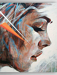 decoración pintada a mano la gente de nuevo la pintura al óleo con camilla para la decoración del hogar listo para colgar