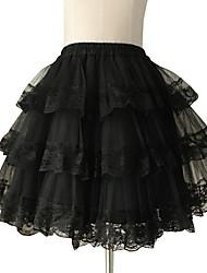 Skirt Sweet Lolita Princess Cosplay Lolita Dress Lace Lolita Short / Mini Skirt Petticoat For Lace
