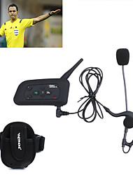 1pcs de fútbol interfono del bluetooth auricular de intercomunicación árbitro vnetphone V4C 1200m full duplex con FM para 4 usuarios