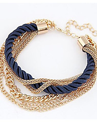 Women's Wrap Bracelet Natural Friendship Handmade Fashion Vintage Bohemian Nylon Alloy Round Jewelry ForAnniversary Birthday Gift Sports