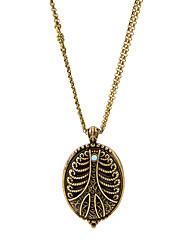 Femme Pendentif de collier Forme Ovale Original Personnalisé Bijoux Pour Décontracté