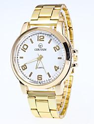 Men's Fashion Watch Wrist watch Quartz Alloy Band Casual Gold Brand