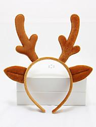 Life-like Zoo Animal Ears Headband Accessory Deer Halloween Props Yellow Red Corduroy Cosplay Accessories Halloween Christmas Carnival Children's Day