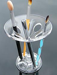 Acrylic Transparent Portable Cosmetics Makeup Storage Display Stand Makeup Brush Display Pot Holder Cosmetic Organizer 13x10x10 cm