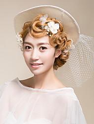 Lace Flax Net Headpiece-Wedding Special Occasion Fascinators Hats Birdcage Veils 1 Piece