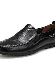 Herren Outdoor Komfort Loch Schuhe formale Schuhe Leder Frühling Sommer Outddor Büro Lässig Flacher Absatz Schwarz Hellbraun Dunkelbraun