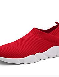 Men's Sneakers Spring Summer Comfort Light Soles Tulle Outdoor Athletic Low Heel Running Black Red