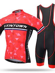 Xintown® pro team дышащий велосипед с коротким рукавом и трикотажным нагрудным нагрудником