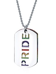 Couple's Pendant Necklaces Jewelry Square Stainless Steel Dangling Style Jewelry For Daily