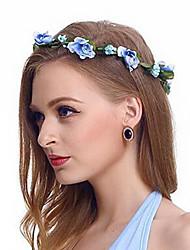Women's Fabric Hair Clip Five Flowers Cute Party Casual Spring Summer Headband Headpiece Head Wreath  Hair Accessories  Flower Girls