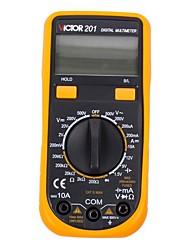 Victor® victor201 lcd multímetro digital de bolso auto que varia ac / dc ohm detector de medição eletrônico testador de tensão de uso