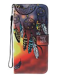 Pour iphone 7plus 7 pu matériel en cuir dream catcher pattern wallet section affaire pour 6 plus 6s 5 se