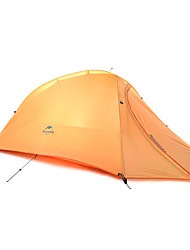 1 person Tent Double Fold Tent One Room Camping Tent Silicone Foldable Portable-Camping Outdoor-Orange