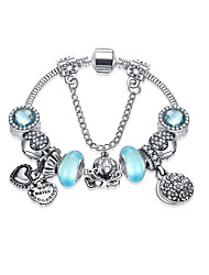 Women's Strand Bracelet Friendship Fashion Alloy Round Jewelry For Anniversary Gift Valentine Christmas Gifts 1pc