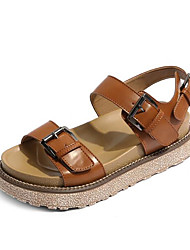 Women's Sandals Spring Gladiator Comfort PU Casual Screen Color Light Brown Gray