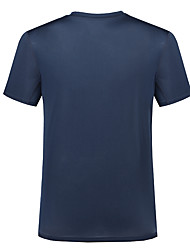 Men's T-shirt Camping / Hiking Breathable Quick Dry Anatomic Design Spring Summer Black Purple Sky Blue Burgundy