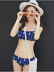 Bikinis Rubans Bandeau Polyester