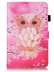 For Samsung Galaxy Tab S2 9.7 Tab E 9.6  Card Holder Wallet with Stand Flip Pattern Case Full Body Case Owl Hard PU Leather Tab A 9.7 Tab A 10.1