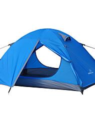 2 Personen Zelt Doppel Falt-Zelt Einzimmer Camping Zelt 2000-3000 mm Glasfaser OxfordFeuchtigkeitsundurchlässig Wasserdicht