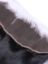 22inch braizlian fermeture frontale en dentelle droite meilleures fermetures de cheveux humains vierges fermeture sans brazilian / milieu