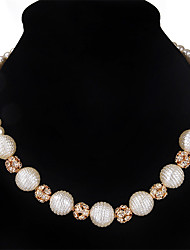 2017 Fashion Elegant Rhinestones Pearl Necklaces Charms Short Choker Necklace For Women Wedding Bride Jewelry Accessories