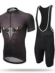 Xintown® eagle transpirável bicicleta ciclismo roupa de manga curta conjunto jersey e bib curto