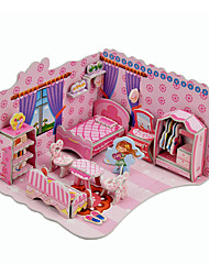 Jigsaw Puzzles 3D Puzzles Building Blocks DIY Toys House 1 Paper Model & Building Toy