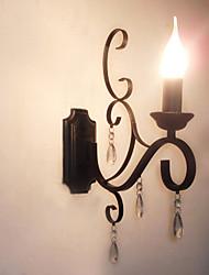 Lampadaire en cristal lampe en fer personnalité créative couloir escalier décoration lampe de chevet applique murale