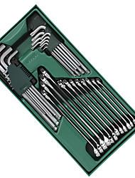 Sata Werkzeugsatz 30 Stück Doppelschraubenschlüssel im Sechskantschlüssel 09906 19 mm
