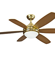 Ceiling Fan ,  Vintage Brass Feature for LED Designers Metal Living Room Bedroom Dining Room Kitchen Study Room/Office