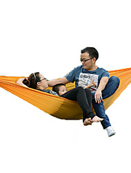 2 persons Hammock Fold Tent Camping Tent Canvas Foldable Portable-Camping Beach Outdoor-Orange