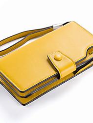 Women PU Tri-fold Clutch / Wallet / Card & ID Holder-Pink / Gold / Black Women PU Tri-fold Clutch / Wallet / Card & ID Holder-Pink / Gold / Black