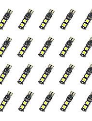 20pcs t10 9 * 5050 smd tableau de décodage led voiture ampoule lumière blanche dc12v