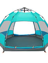 5-8 Personen Zelt Doppel Automatisches Zelt Einzimmer Camping Zelt 2000-3000 mm Glasfaser PU OxfordFeuchtigkeitsundurchlässig Wasserdicht