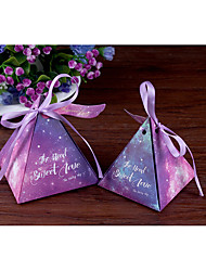 10 Piece/Set Favor Holder-Pyramid Card Paper Favor Boxes Gift Boxes Non-personalised