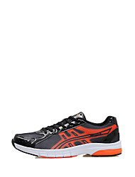 Men's Athletic Shoes Summer Fall Comfort Light Soles PU Outdoor Athletic Flat Heel Low Heel Lace-up Orange/Black Green Navy Blue Running
