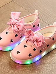 Kids Boys Girls' Sneakers Spring Fall Light Up Shoes First Walkers Luminous Shoe PU Wedding Outdoor Casual Low Heel LED