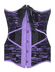 Women Overbust Corset,Organic Cotton Hook & Eye